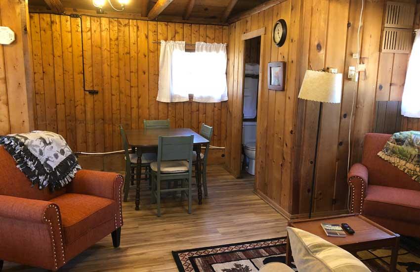 cozy cove cabins interior